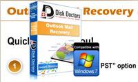 بازیابی ایمیل های از دست رفته توسط Disk Doctors Outlook Mail Recovery v2.0.1