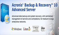 پشتیبانگیری فایلها برای سرور با Acronis Backup Recovery Server 10.0.12703 with Universal Restore