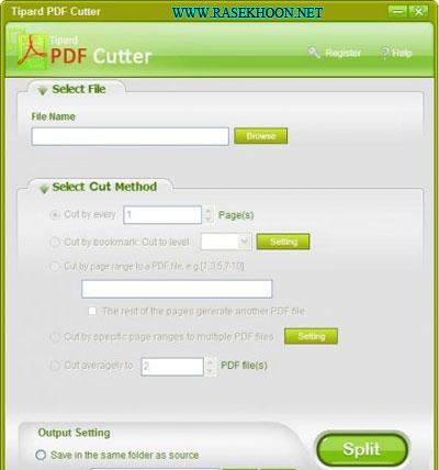 نرم افزار جدا کردن و ادغام فایل های پی دی اف با Tipard PDF Cutter And