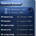تقویم اسلامی با قابلیت روز و ماه شمار-مخصوص آیفون