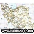 نقشه کامل جاده های ایران