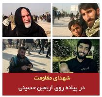 شهدای مقاومت در پیاده روی اربعین حسینی/ عکس و فیلم