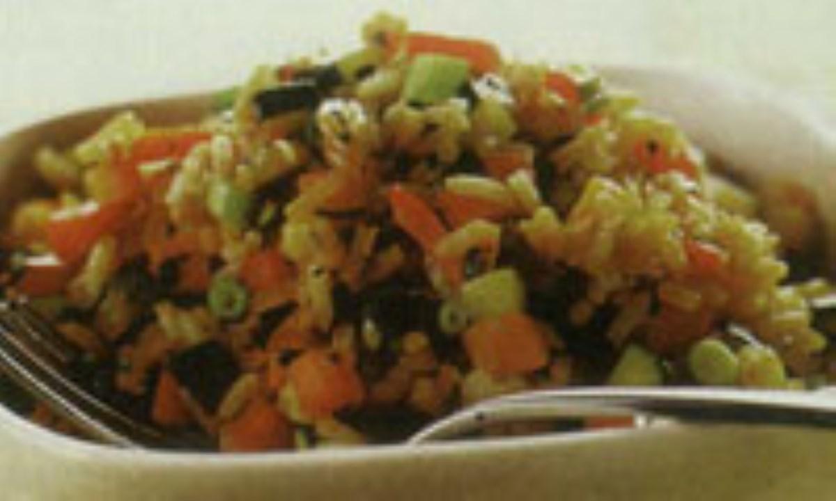 مخلوط برنج و سبزيجات