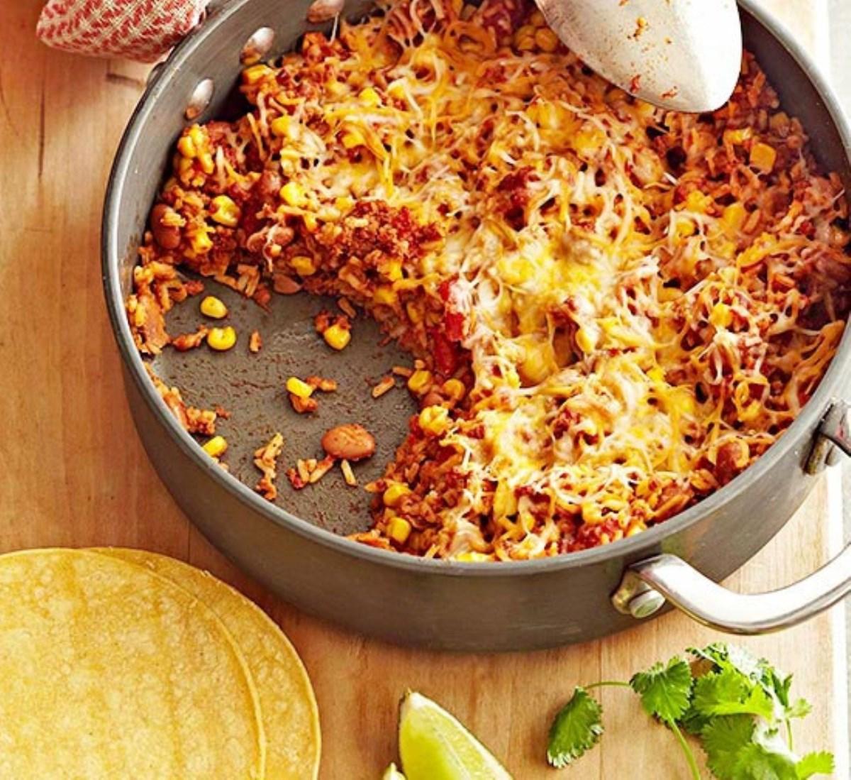 طرز تهیه غذای ملل تابه مکزیکی