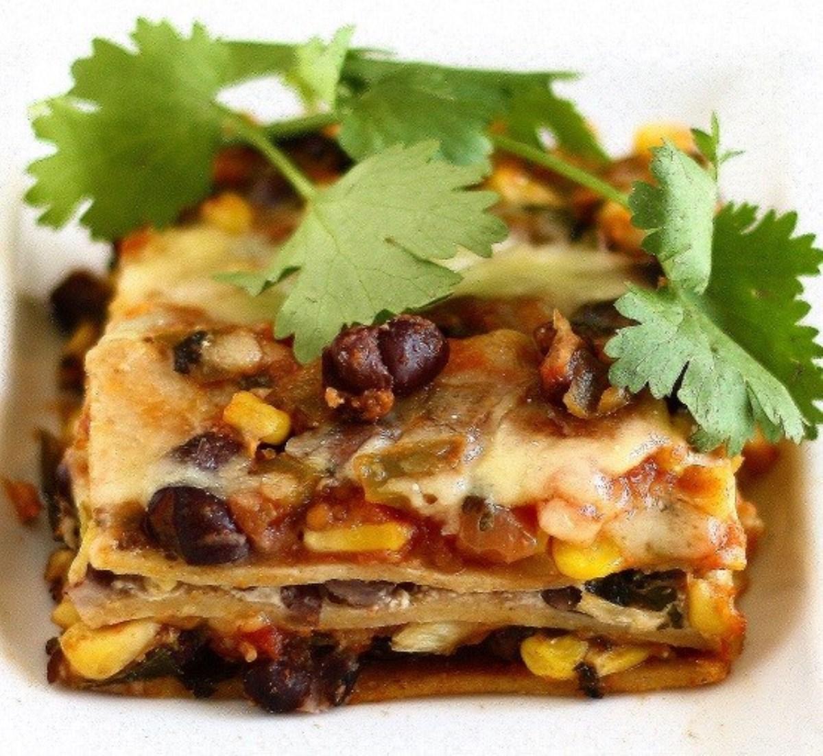 طرز تهیه غذای ملل لازانیای مکزیکی