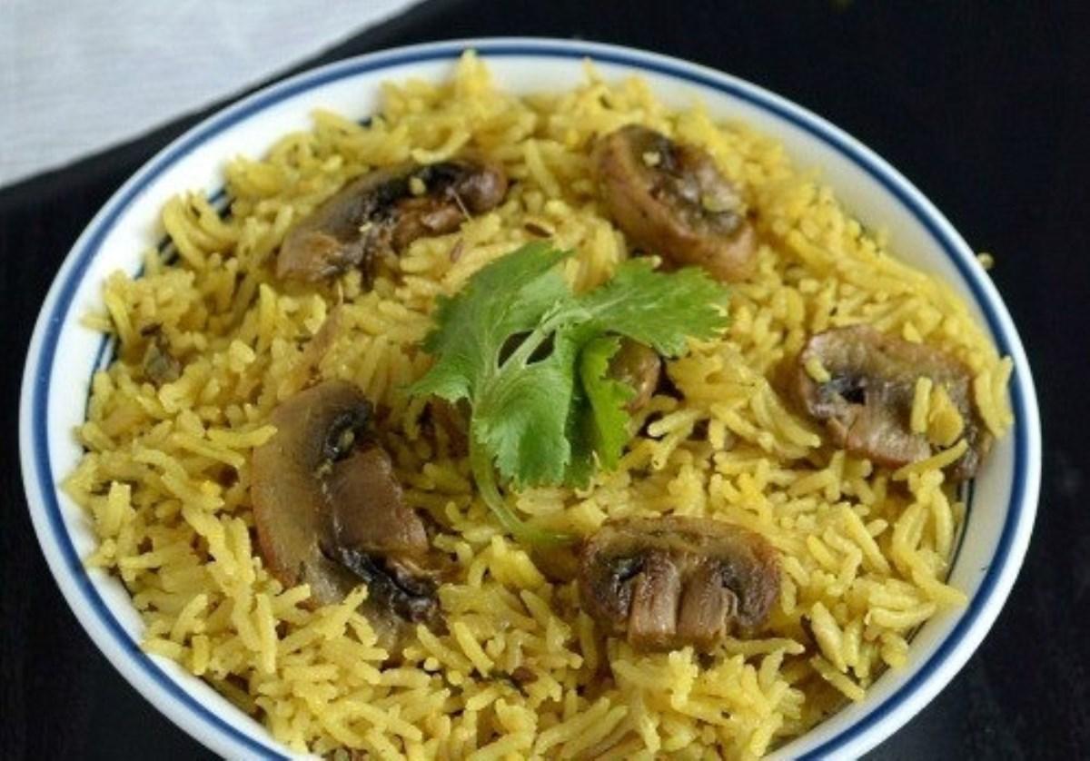 طرز تهیه غذای ملل قارچ پلو (هندی)