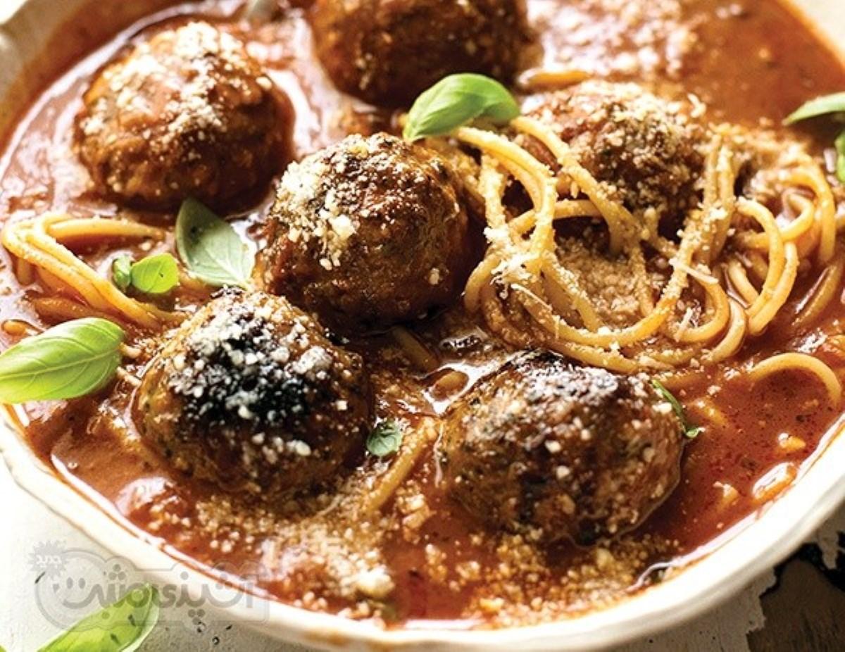 طرز تهیه غذای ملل سوپ کوفته و اسپاگتی(به سبک ایتالیایی)