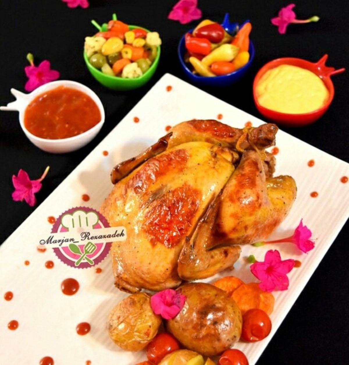 طرز تهیه غذای ملل مرغ بریان نمکی