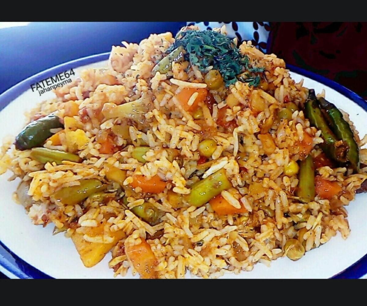 طرز تهیه غذای ملل پلو سبزیجات هندی (غذای اصیل هندی)
