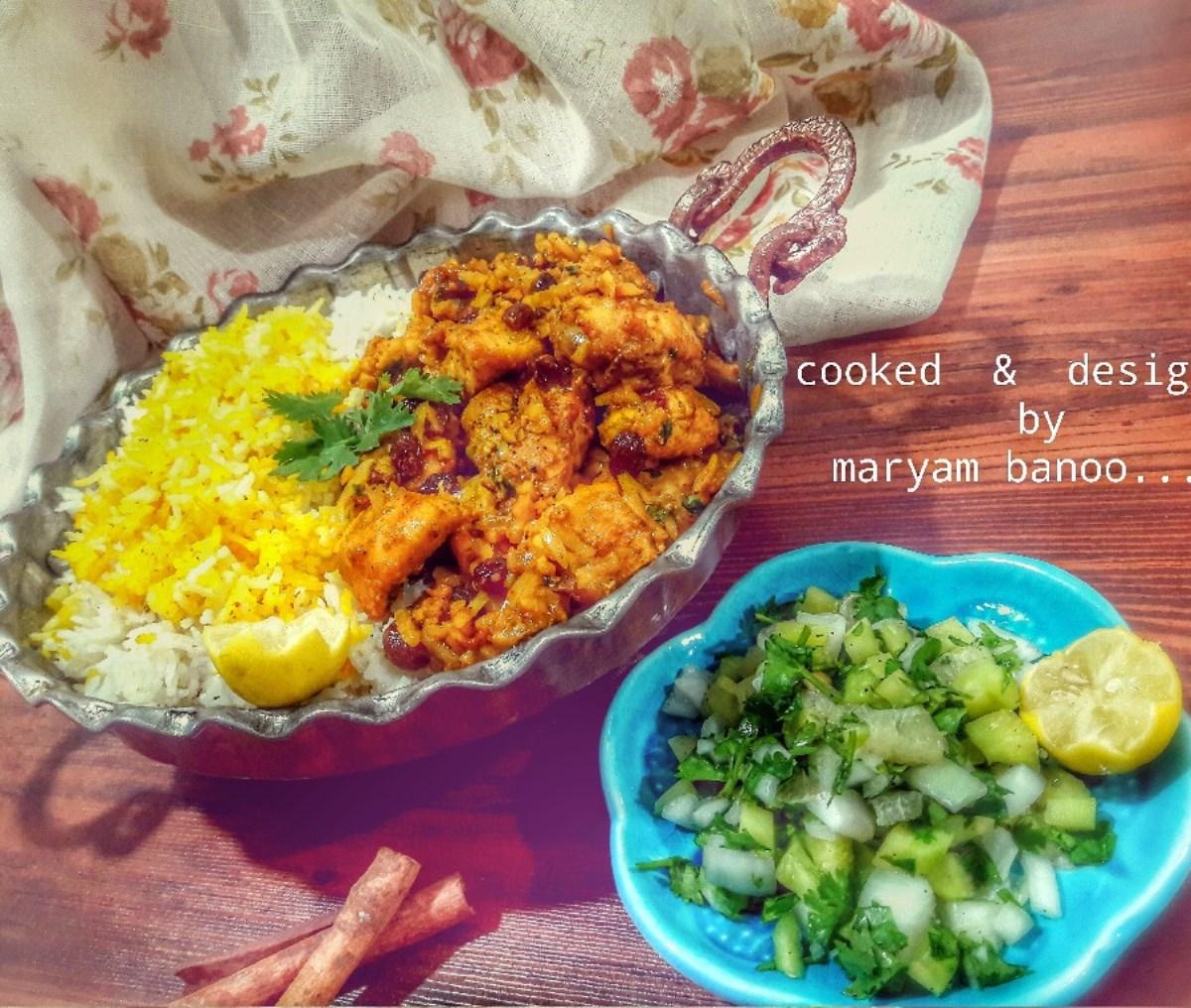 طرز تهیه غذای ملل خورشت مرغ و بادام هندی