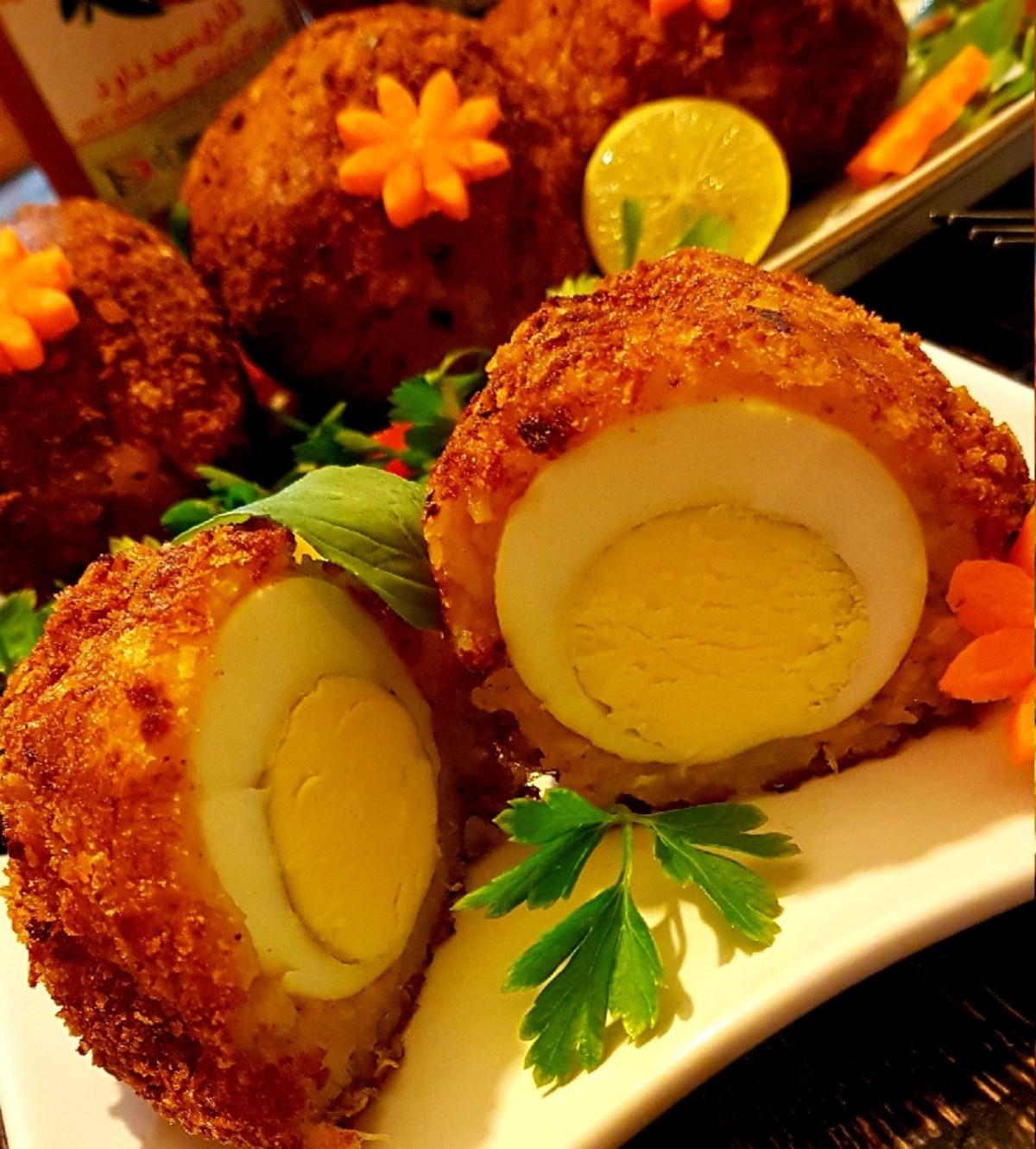 طرز تهیه غذای ملل تدوک تخم مرغ