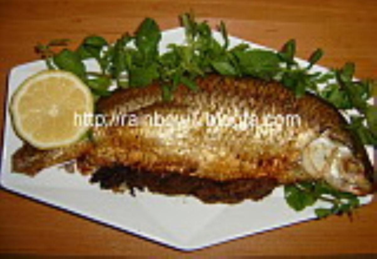 طرز تهیه غذای محلی ماهی شکم پر شمالی