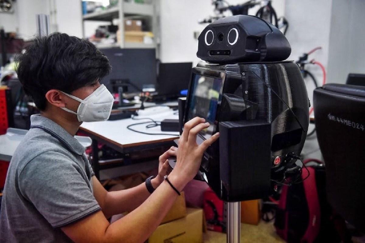 استفاده از روبات در بحران کرونا ویروس