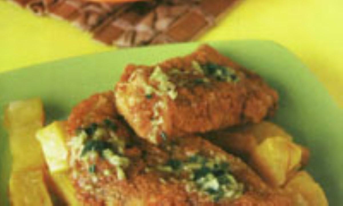 خوراک ماهي سفيد (با سس تارتار)