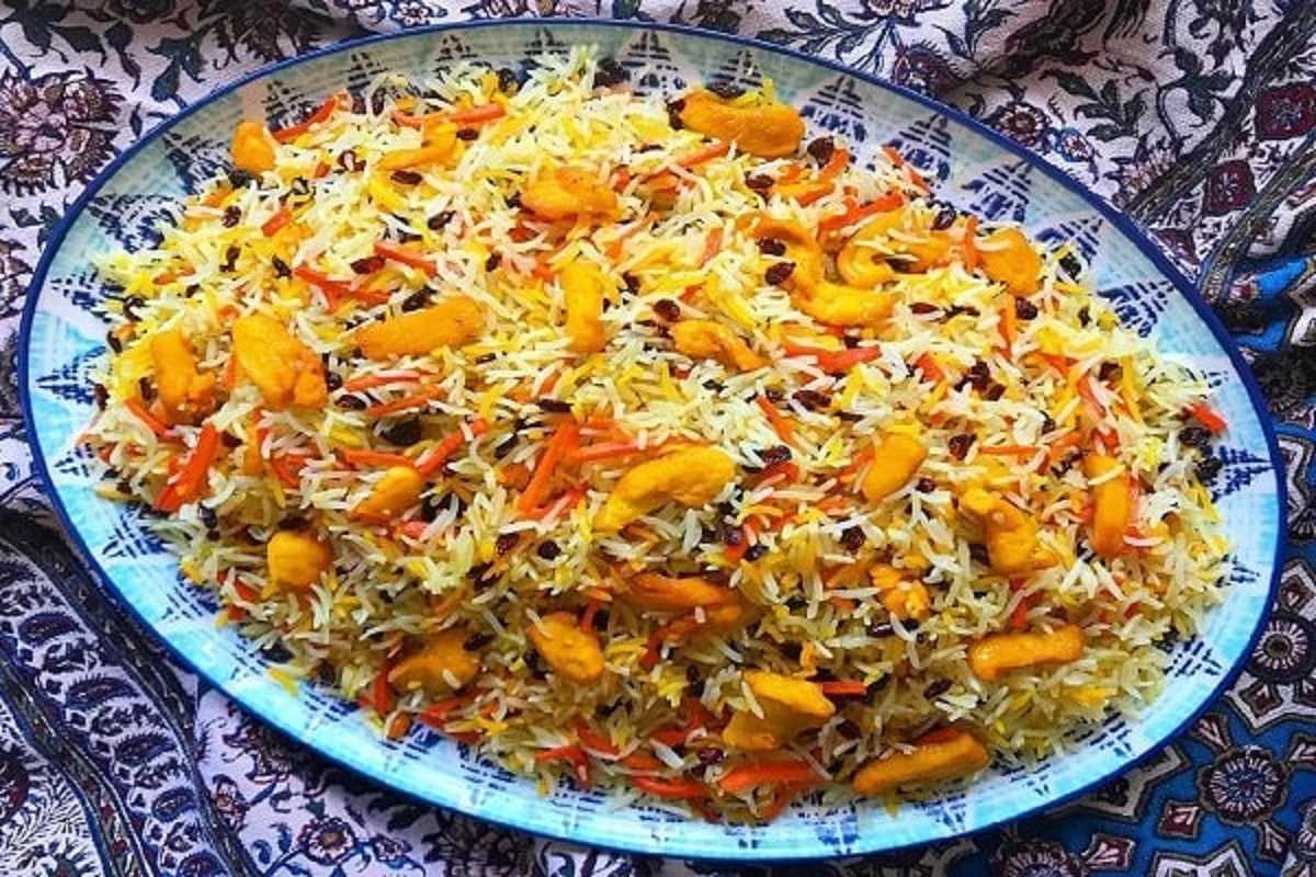 دستور پخت هویج پلو با مرغ