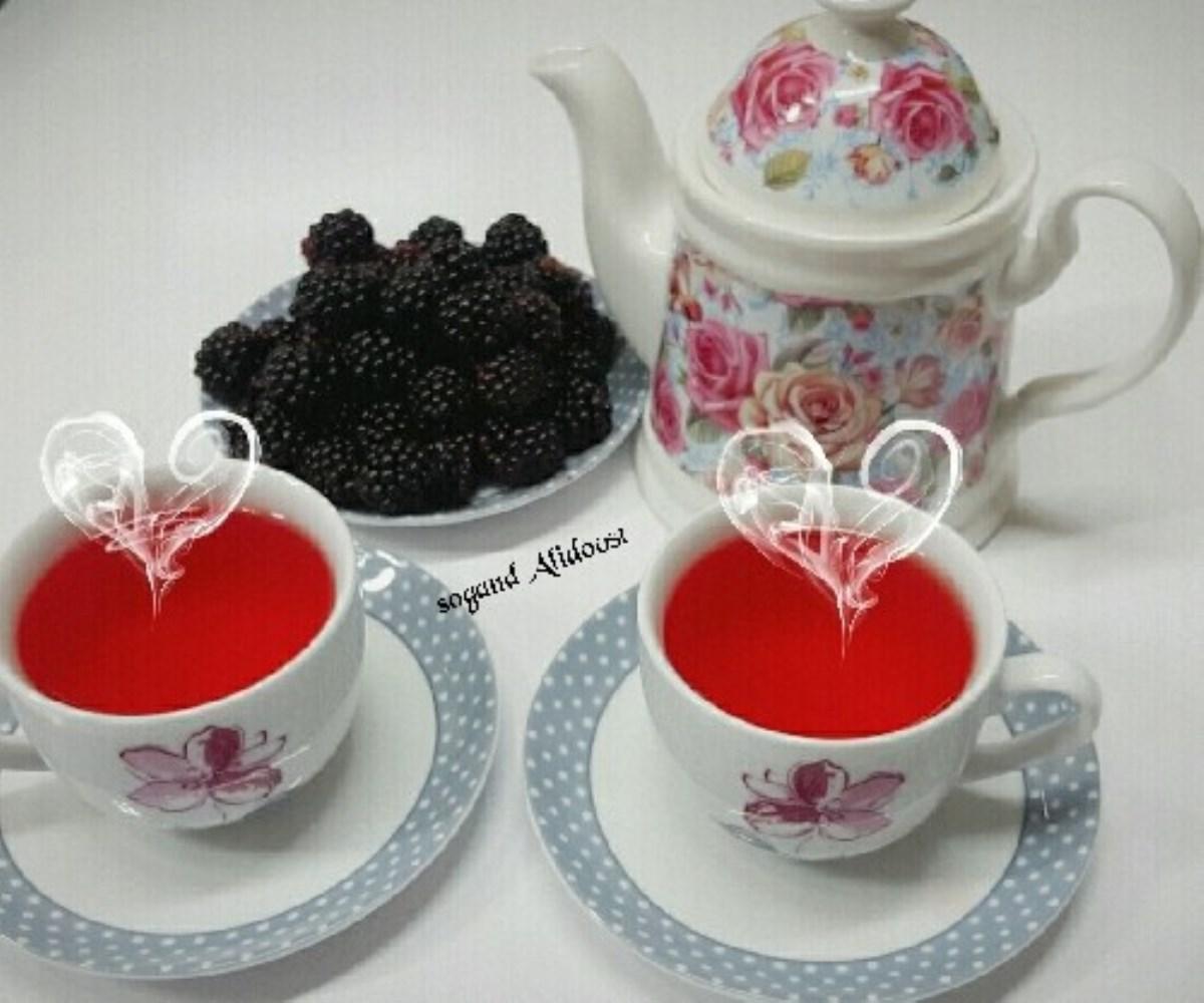 طرز تهیه نوشیدنی گرم، چای تمشک(بلوبری)