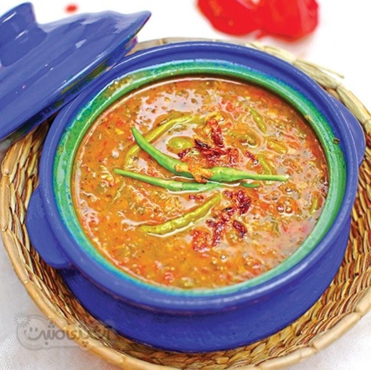 طرز تهیه آش گوجه فرنگی (غذای رژیمی)