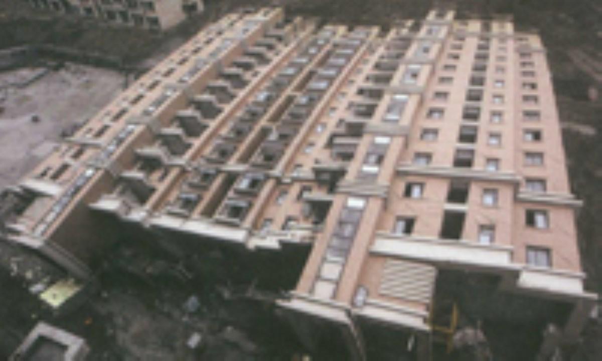 خاک برداري غير اصولي = واژگوني ساختمان