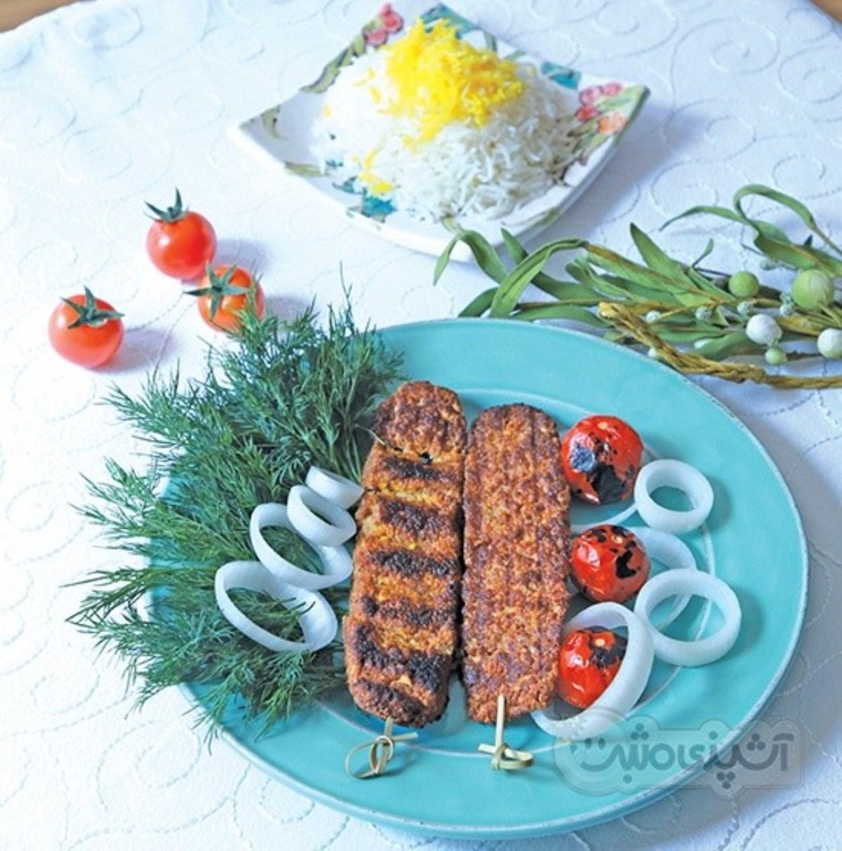 طرز تهیه کباب کوبیده گیاهی (غذای رژیمی)