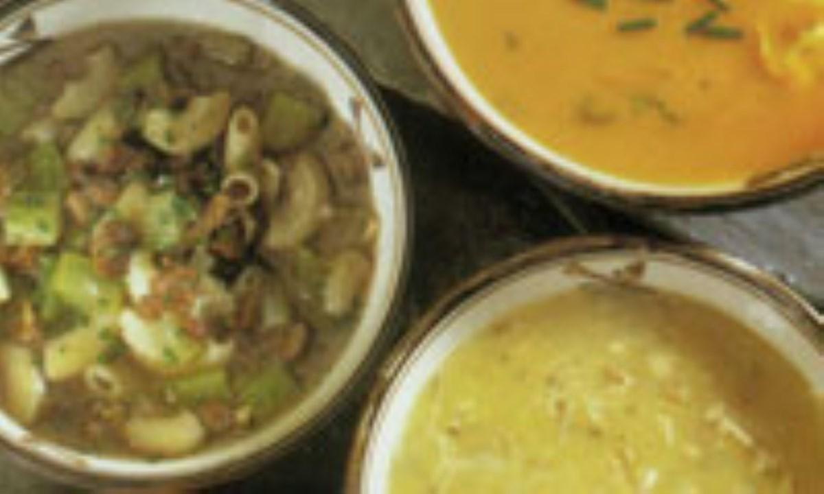 سوپ کدو حلوائي با تورتليني