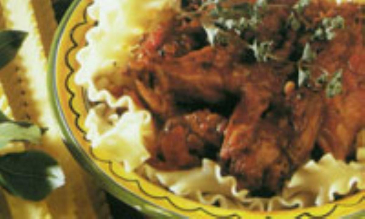 پاستا با گوشت مرغ