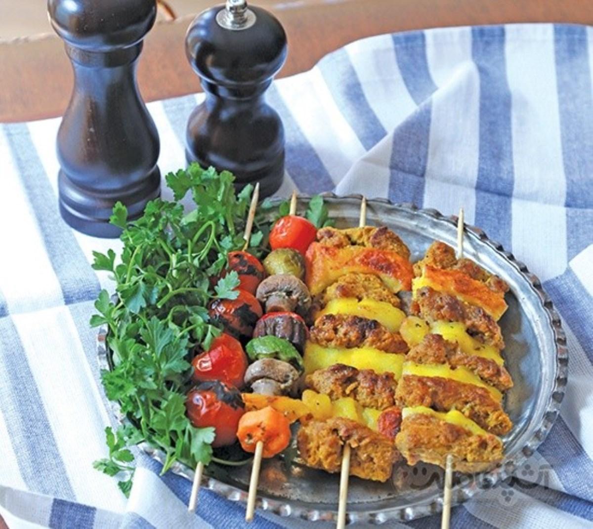 طرز تهیه کباب بختیاری گیاهی(غذای رژیمی)