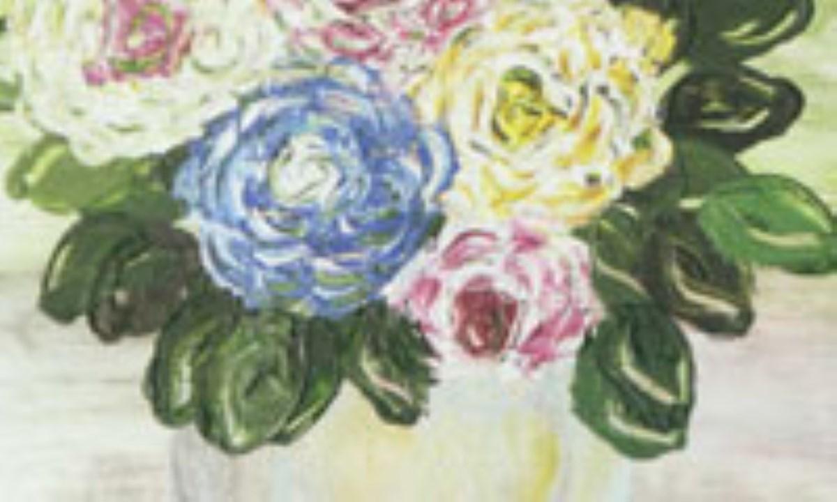 نقاشي با انگشت ( تابلوي گل )
