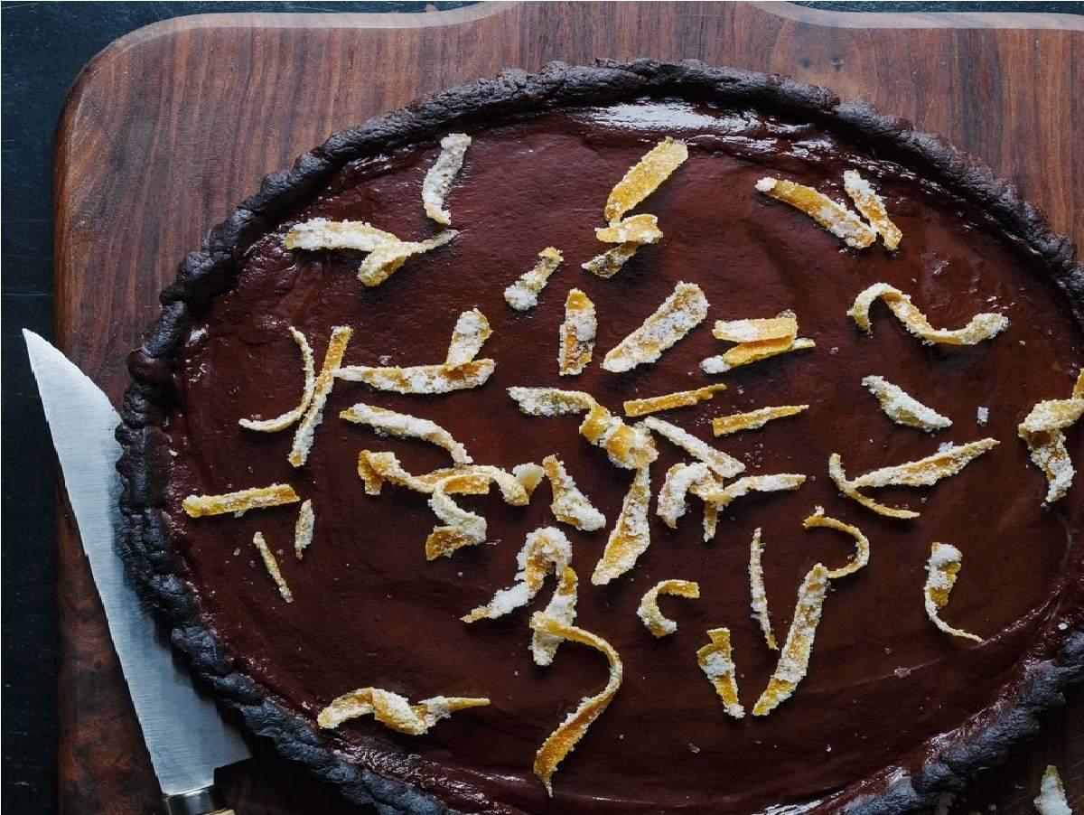 دستور پخت تارت شکلاتی و پرتقالی