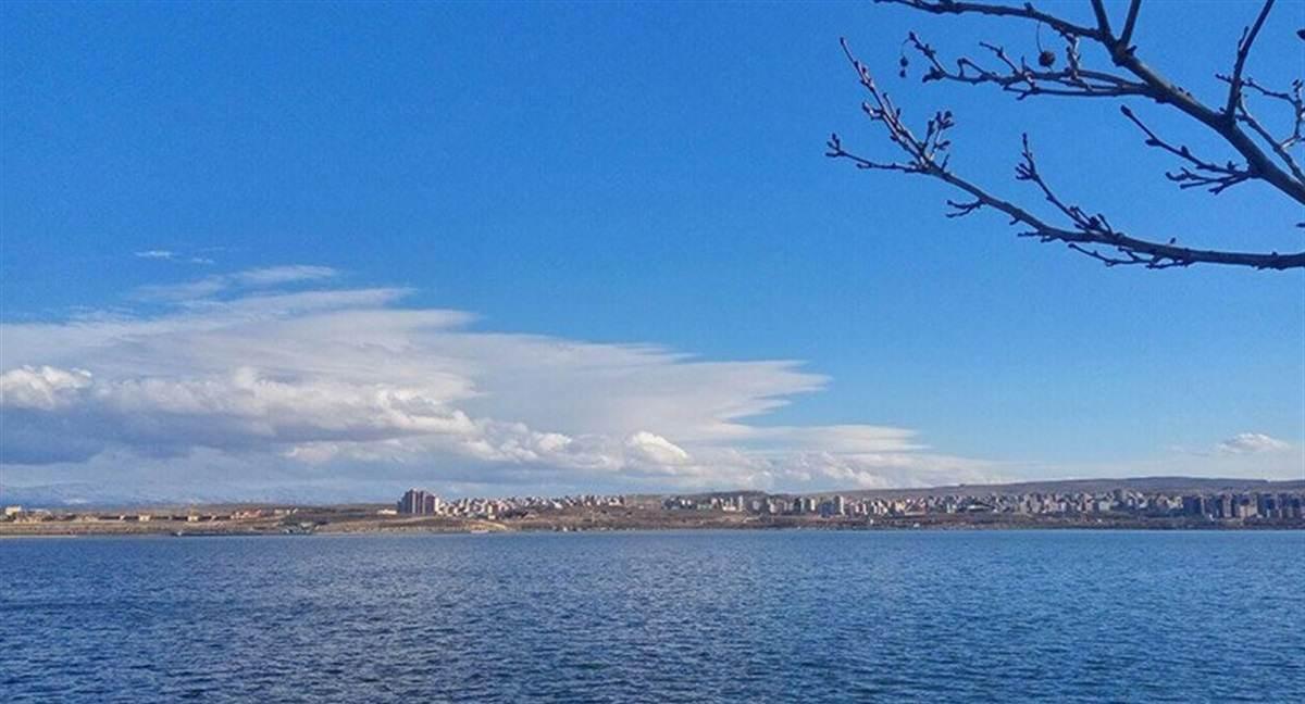 دریاچه شورابیل در استان اردبیل