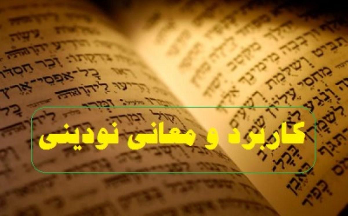 کاربرد و معانی نودینی دو کتاب مقدس عبرانی