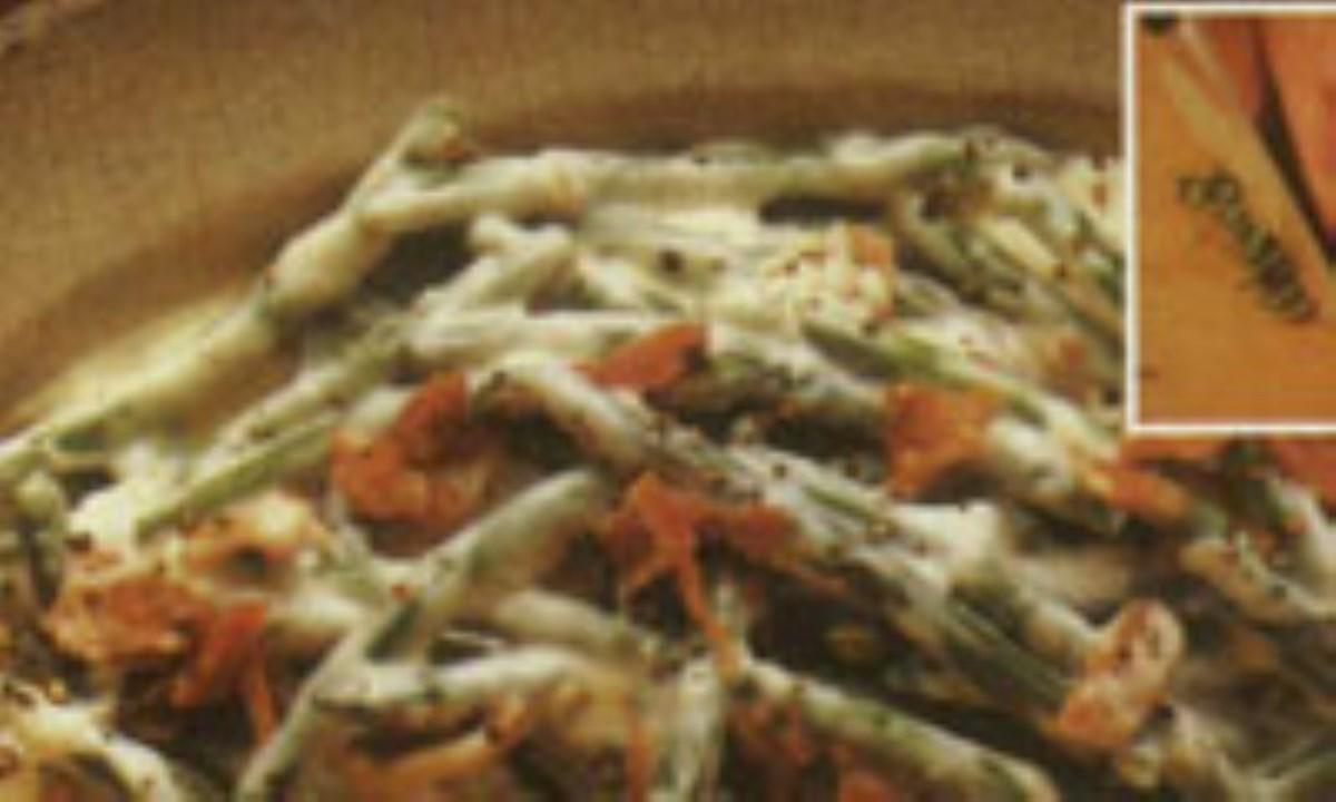 سالاد تن ماهي و لوبيا سبز