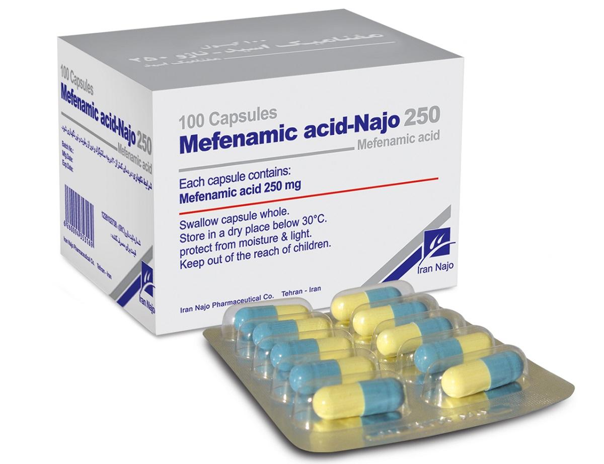 موارد مصرف و عوارض جانبی مفنامیک اسید