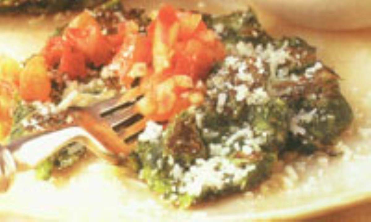 پن کيک سبزيجات با سالساي گوجه فرنگي