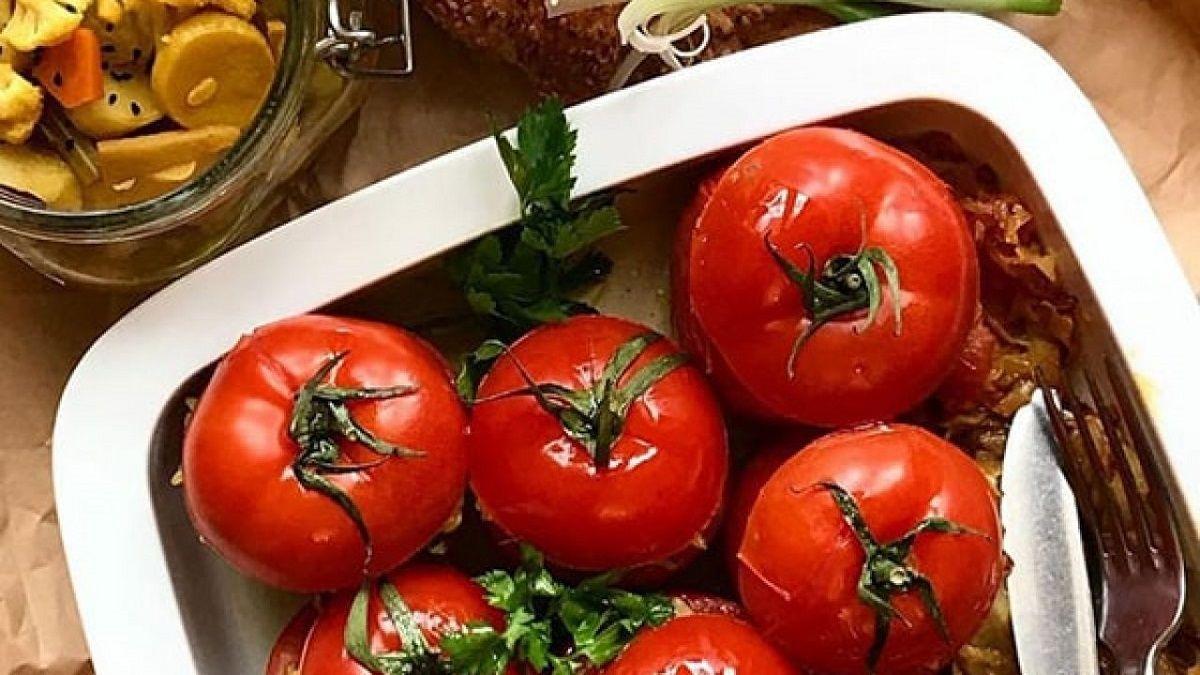 دستور پخت دلمه گوجه فرنگی