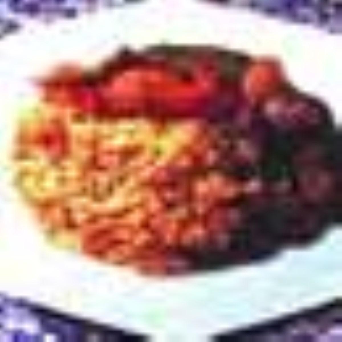 ته چين گوشت و سبزيجات، كشك و بادمجان