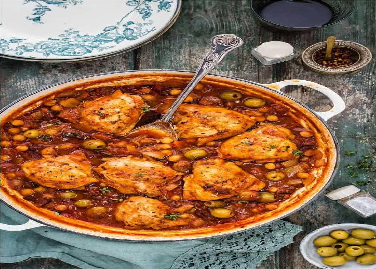دستور پخت خوراک نخود و مرغ خاورمیانه ای