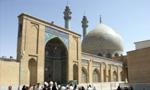 """آغاز بناي مسجد اعظم قم به امر آيت اللَّه """"بروجردي"""" (1333ش)"""