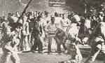 راهپيمايي ضد رژيم مردم شيراز به مناسبت برگزاري جشن هنر در اين شهر (1357 ش)