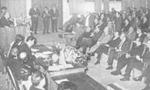 هنگام طرح برنامه دولت در مجلس بین نمایندگان حزب مردم و ایران نوین مشاجره شدیدی درگرفت و مجلس به شدت متشنج شد(1350ش)