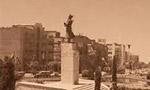 مجسمه بزرگ فردوسي در ميدان فردوسي نصب گرديد.(1338 ش)
