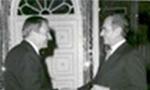 نلسون راکفلر معاون رئیس جمهوری پیشین آمریکا و فرماندار سابق نیویورک و همسرش وارد تهران شدند.(1356ش)