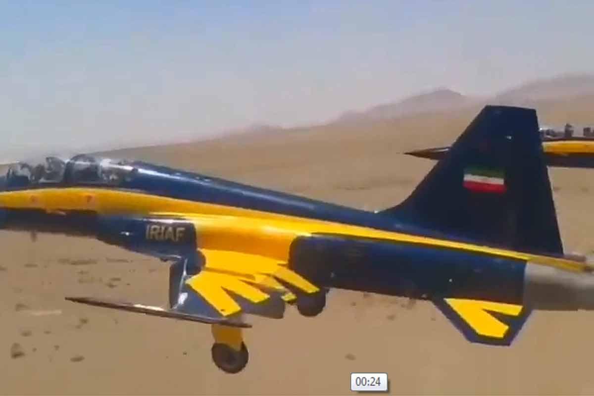 تیک آف با جنگنده ایرانی کوثر