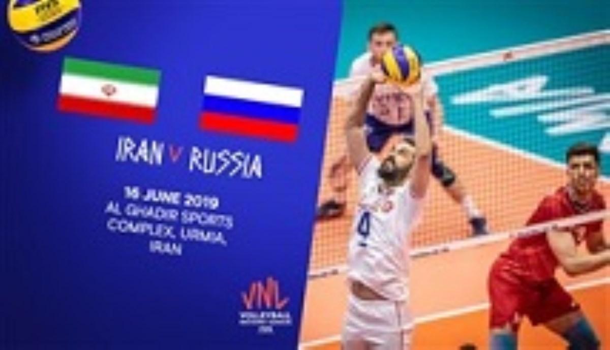 خلاصه والیبال ایران 3 - روسیه 0