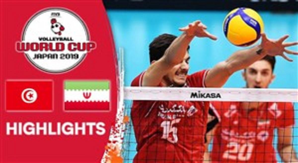 خلاصه بازی والیبال تونس 0 - ایران 3
