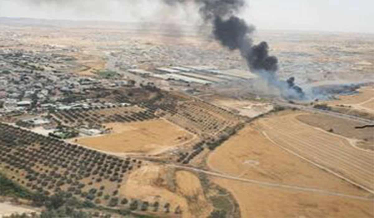 آتشسوزی نزدیک کارخانه نظامی صهیونیستها