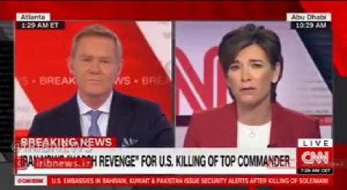 پخش زنده مراسم تشییع سردار سلیمانی از CNN آمریکا
