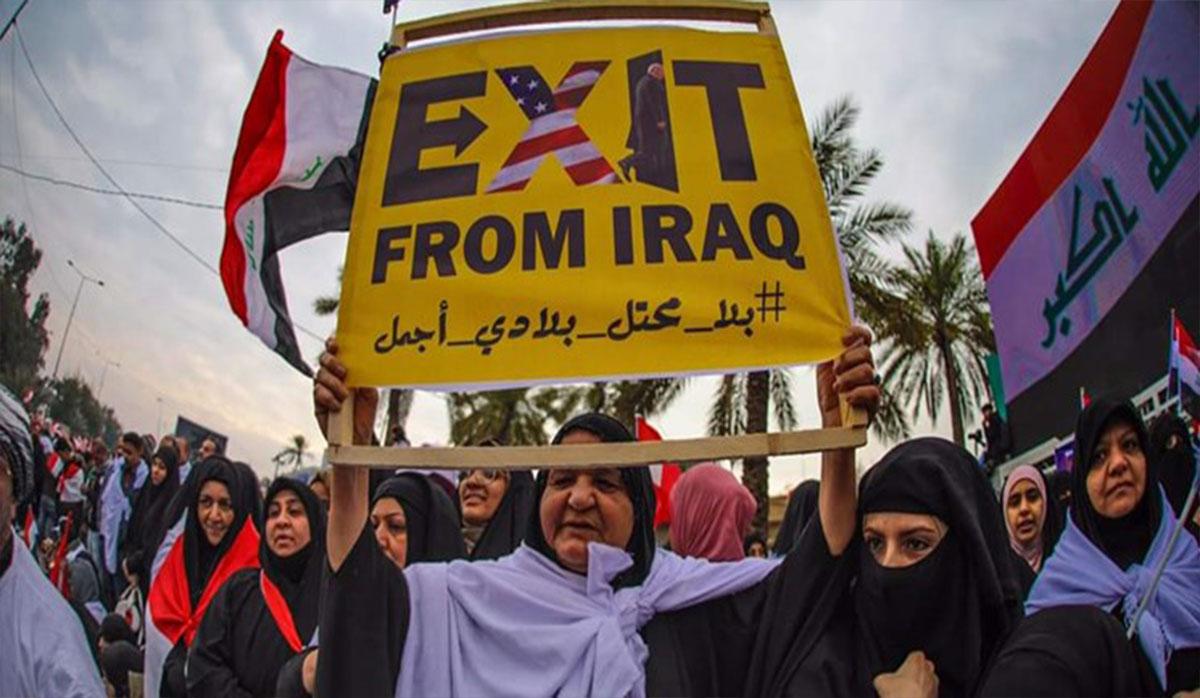 """نمایی از حضور میلیونی عراقیها در بغداد و طنین شعار """"مرگ بر آمریکا"""""""