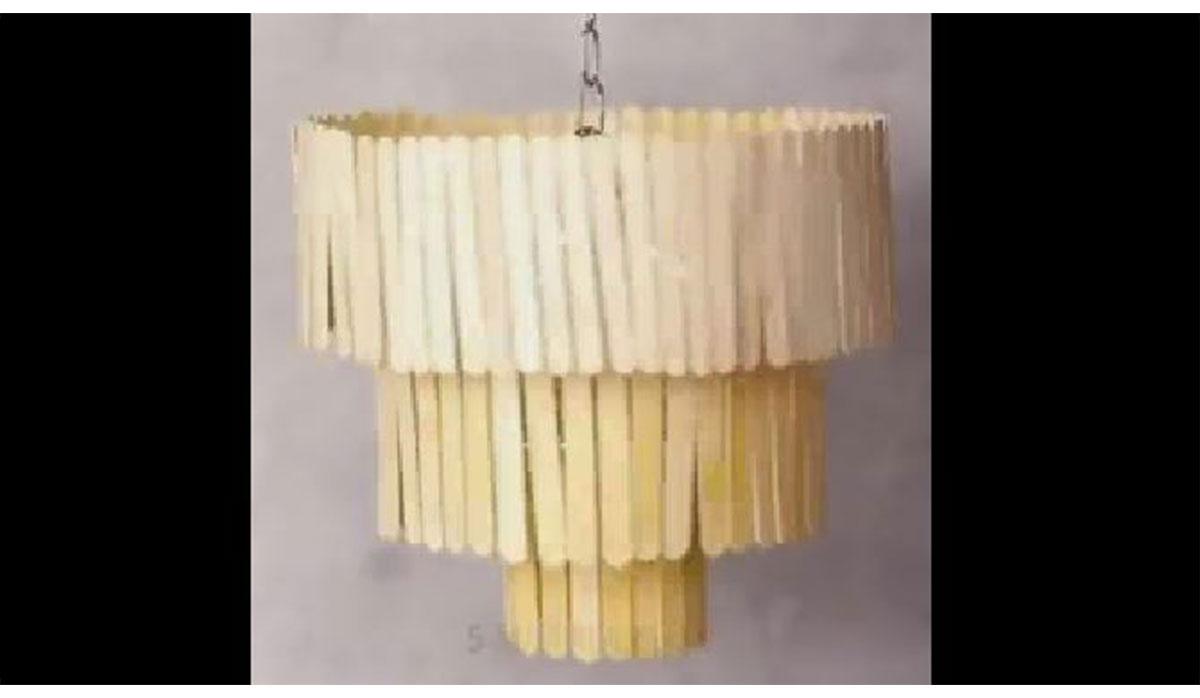 ترفند | چراغ آویز چوب بستنی