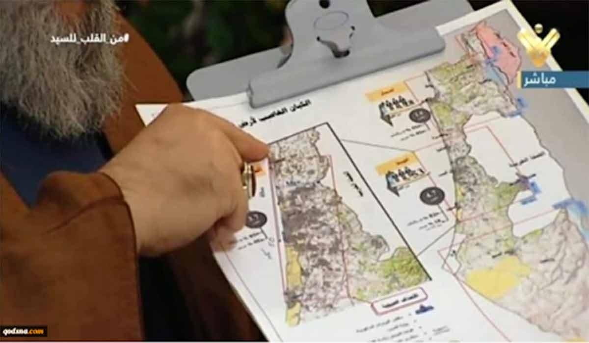 انتشار نقشه مراکز نظامی اسرائیل توسط حزب الله