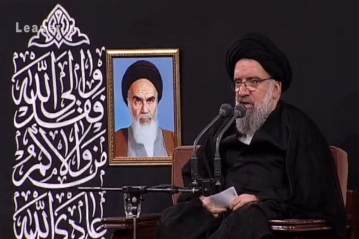 حجت الاسلام خاتمی/ سخنرانی در حضور رهبر معظم انقلاب؛ شب آخر مراسم محرم 98